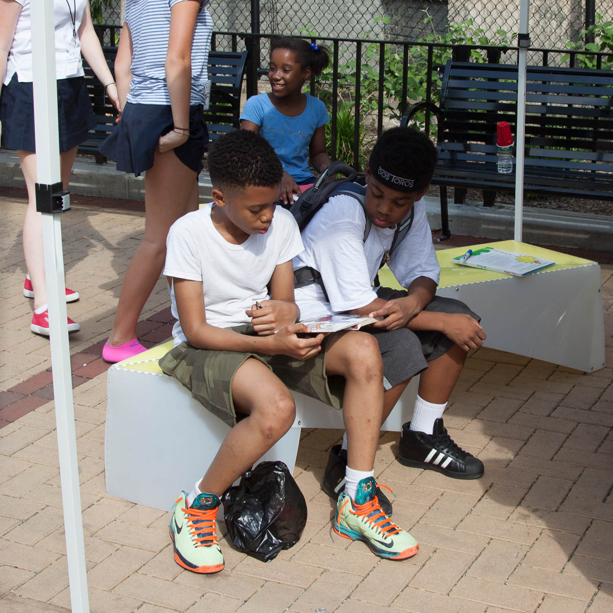 Uni Portable reading room at White Park East Harlem 2017