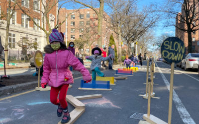 Transforming streets for kids, PLAY at 34th Ave Open Street, Queens